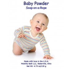 Baby Powder Soap-On-A-Rope