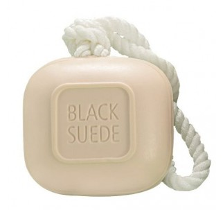 Black Suede Soap-On-A-Rope